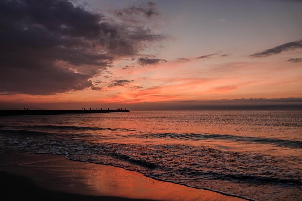 小松海岸 夜明け