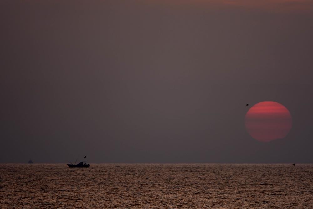 小松海岸 日の出